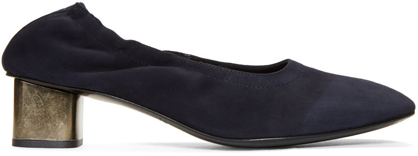 Robert Clergerie Navy Pixie Heels