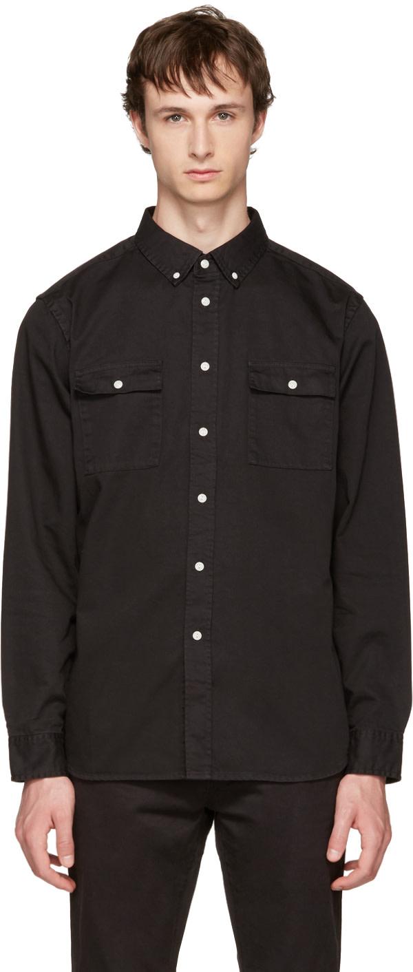 SATURDAYS SURF NYC Black Angus Shirt