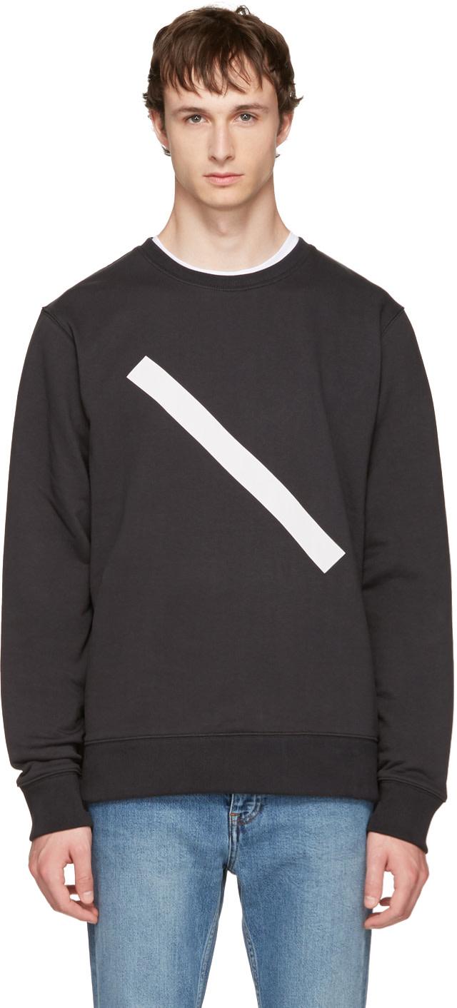 SATURDAYS SURF NYC Black Bowery Slash Sweatshirt