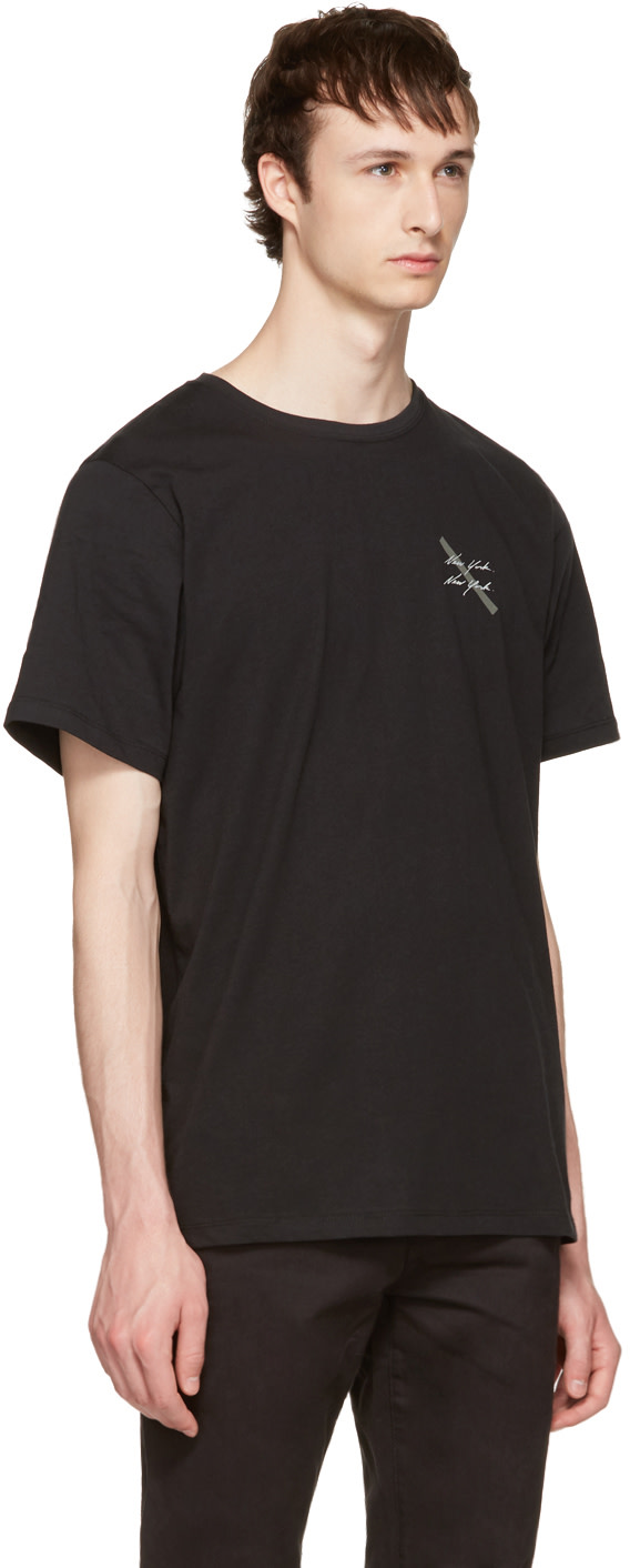 SATURDAYS SURF NYC Black 'New York' Script T-Shirt