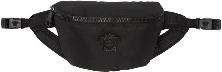 VERSACE Black Nylon Medusa Waist Bag, Knn Black