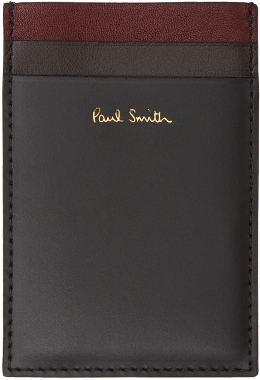 Paul Smith Cardholders Black Color Band North & South Card Holder
