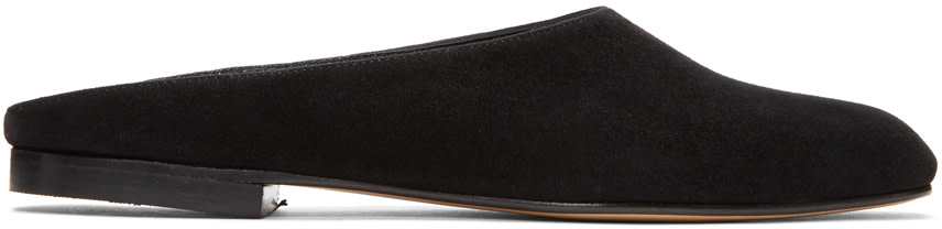 Maryam backless suede loafers