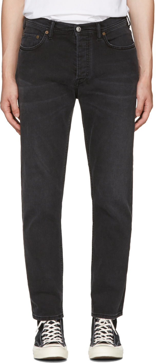 ACNE STUDIOS Skinny Cotton-Blend Jeans in Stay Black