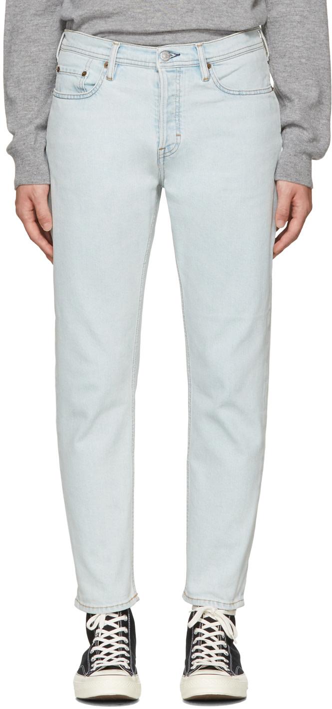 ACNE STUDIOS River Mid-Rise Slim-Leg Jeans, Blue
