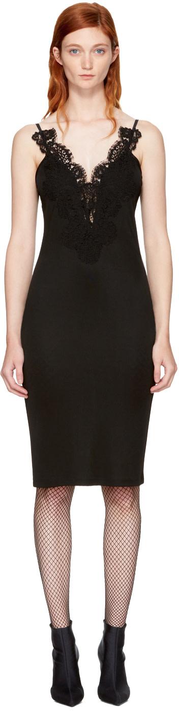 Givenchy Silks Black Lace Cami Dress