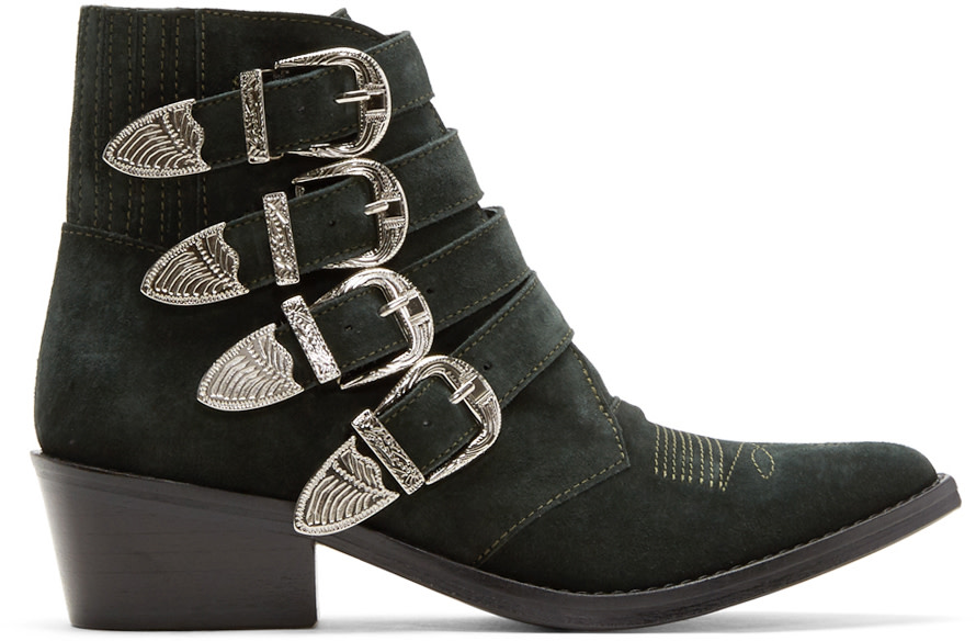 TOGA Buckled Boots in Black