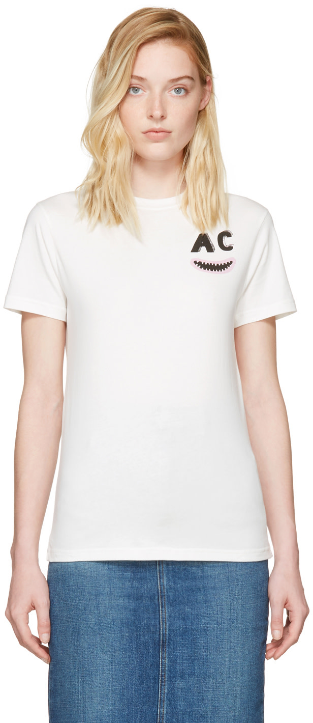 Lenny kravitz pants tear bing images - Alexa Chung Ivory Ac Teeth Boxy T Shirt At Ssense