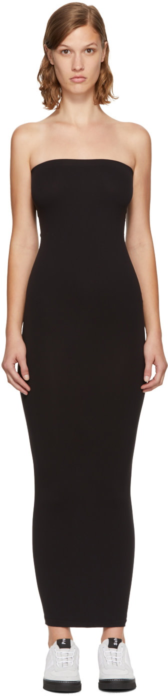 Fatal Strapless Stretch-Jersey Maxi Dress in Black