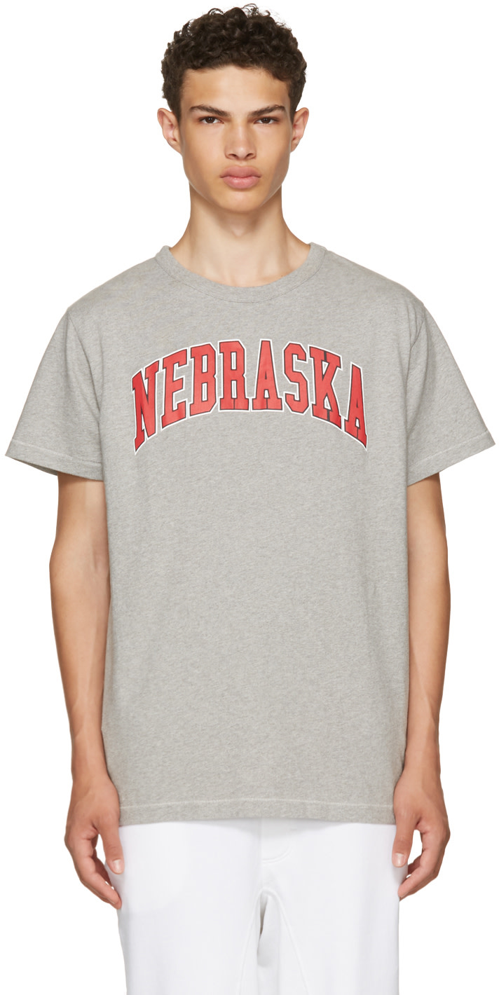 OFF-WHITE GREY NEBRASKA T-SHIRT