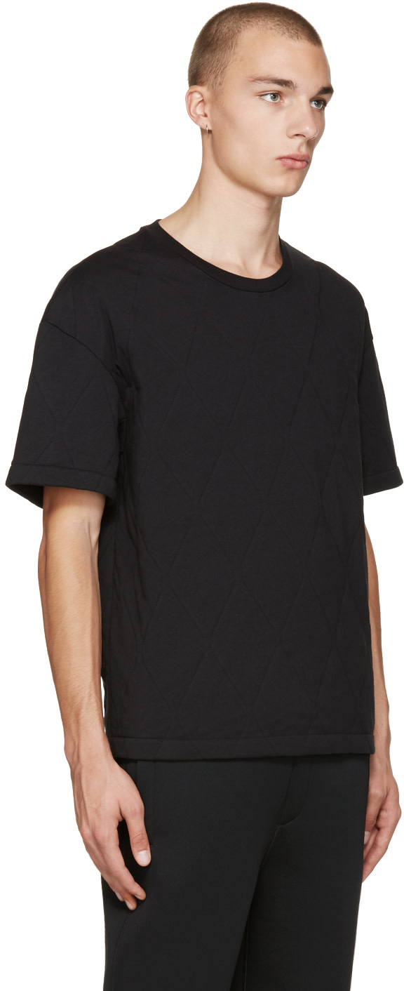 Black quilted t shirt - Balenciaga Black Quilted T Shirt