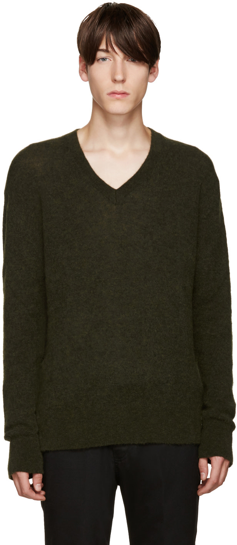 haider ackermann green mohair sweater ssense. Black Bedroom Furniture Sets. Home Design Ideas