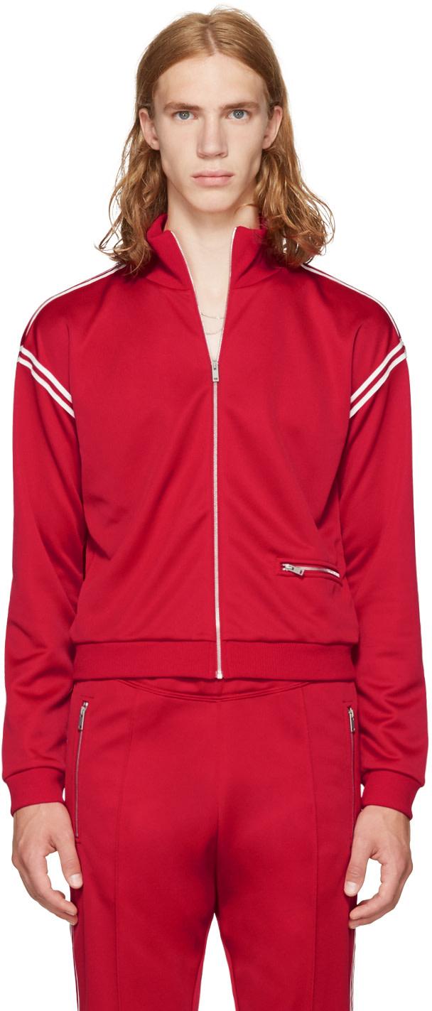 Maison Margiela Classic Bomber Jacket In Red