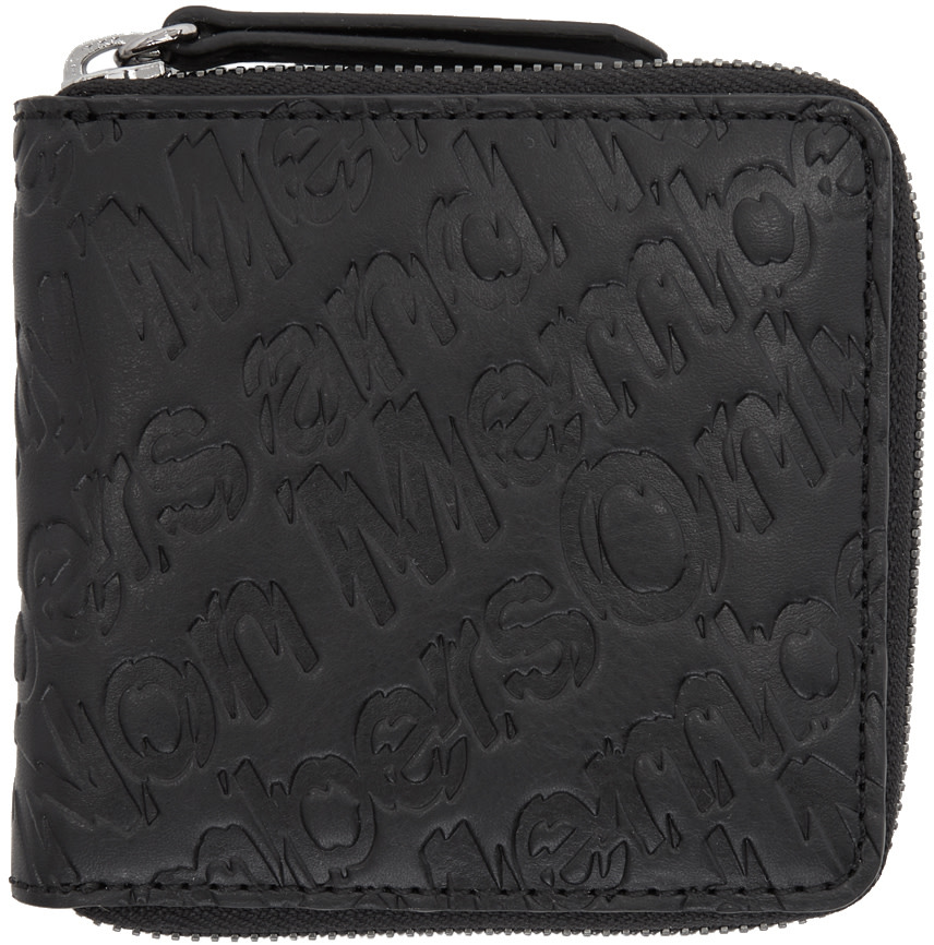 Stella Mccartney  STELLA MCCARTNEY BLACK MEMBERS ZIP WALLET