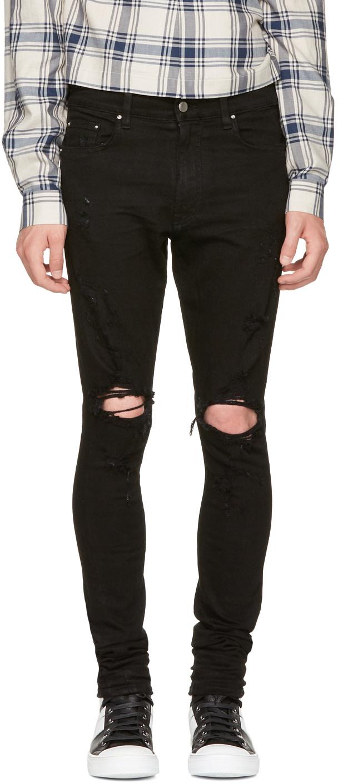 AMIRI Thrasher Jeans Black Denim