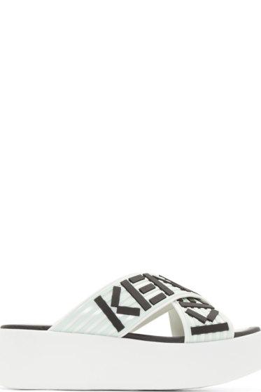 2767af1709ce Kenzo White Platform Shower Shoe Sandals from SSENSE - Styhunt