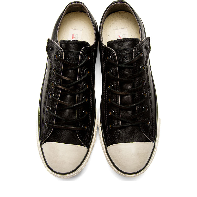 6b8a3262652cd5 Converse by John Varvatos Black Leather Chuck Taylor All Star Sneakers