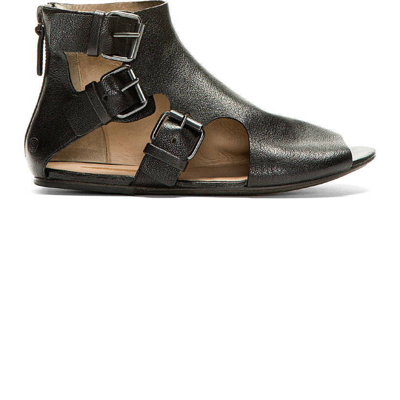 Marsèll Black Multi Buckle Open Sandals