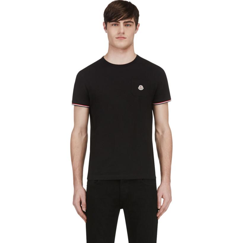 Moncler Black Logo Pocket T-Shirt