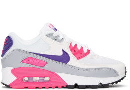 Nike - White & Pink Air Max 90 Sneakers