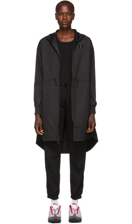 Nike - Black NSW Long Windrunner Coat