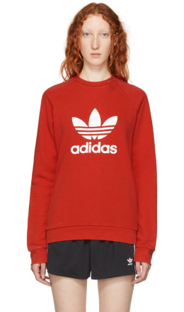 adidas Originals - Red Warm-Up Sweatshirt