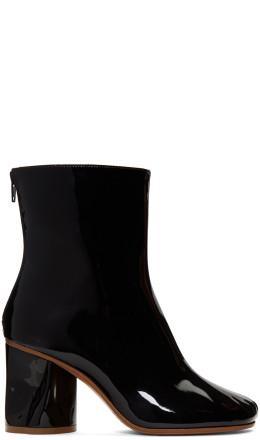 Maison Margiela - Black Crushed Heel Ankle Boots