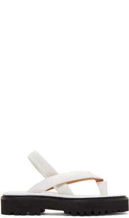Maison Margiela - White Tabi Flip Flop Sandals