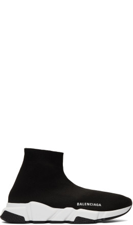 Balenciaga - Black & White Speed Sneakers