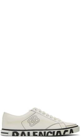 Balenciaga - White Canvas Match Sneakers