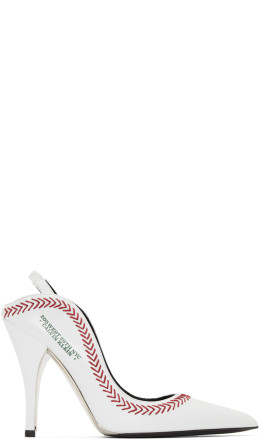 Calvin Klein 205W39NYC - White Jackie Baseball Heels