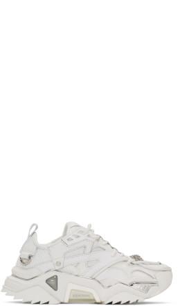 Calvin Klein 205W39NYC - White Jeweled Strike 205 Sneakers