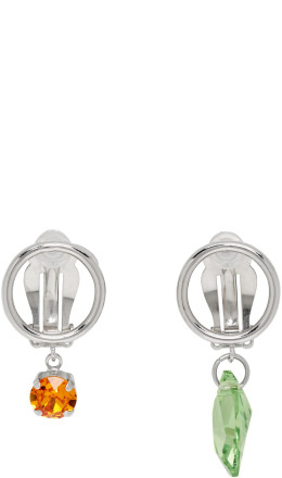 Justine Clenquet - Silver Rei Clip-On Earrings
