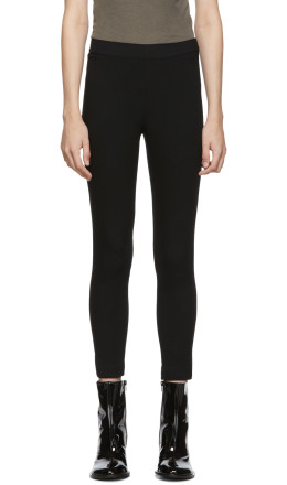 Ann Demeulemeester - Black Trouser Leggings