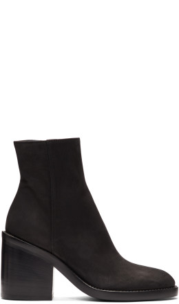 Ann Demeulemeester - SSENSE Exclusive Black Nubuck Boots