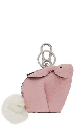 Loewe - Pink Bunny Charm Keychain