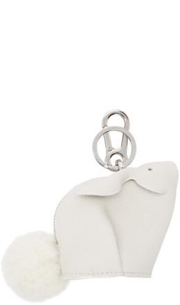 Loewe - White Bunny Charm Keychain