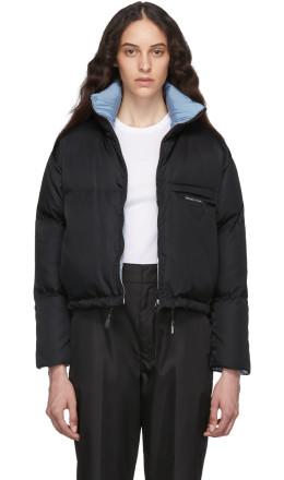 Prada - Black Down Cropped Jacket