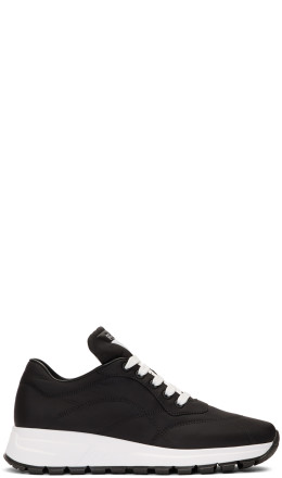 Prada - Black Nylon Leather Prax 01 Sneakers