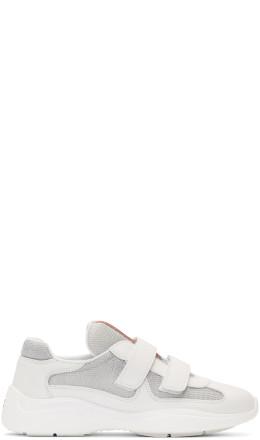 Prada - White Mesh Sneakers