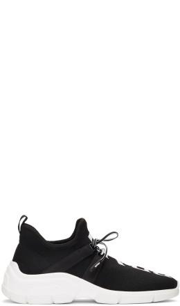 Prada - Black Knit Logo Sneakers