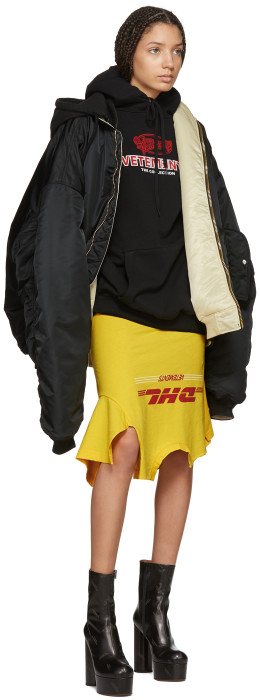Vetements - Reversible Black Alpha Industries Edition Oversized Hooded Bomber Jacket