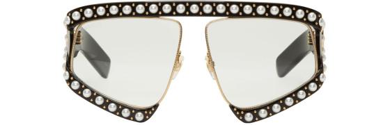 Gucci - Black Oversized Runaway Mask Sunglasses