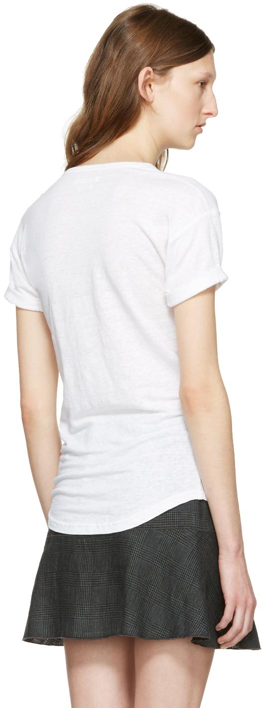 Isabel Marant Etoile White Kolda Logo T Shirt Ssense