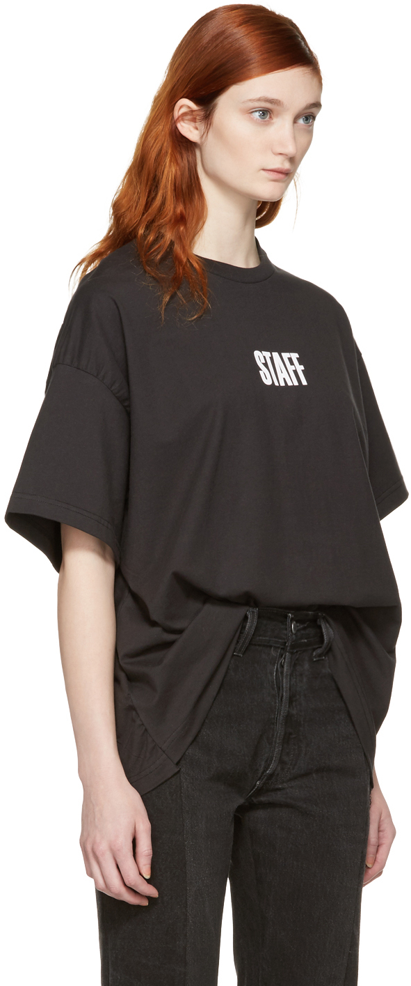 Vetements Black Hanes Edition Quick Made Oversized T