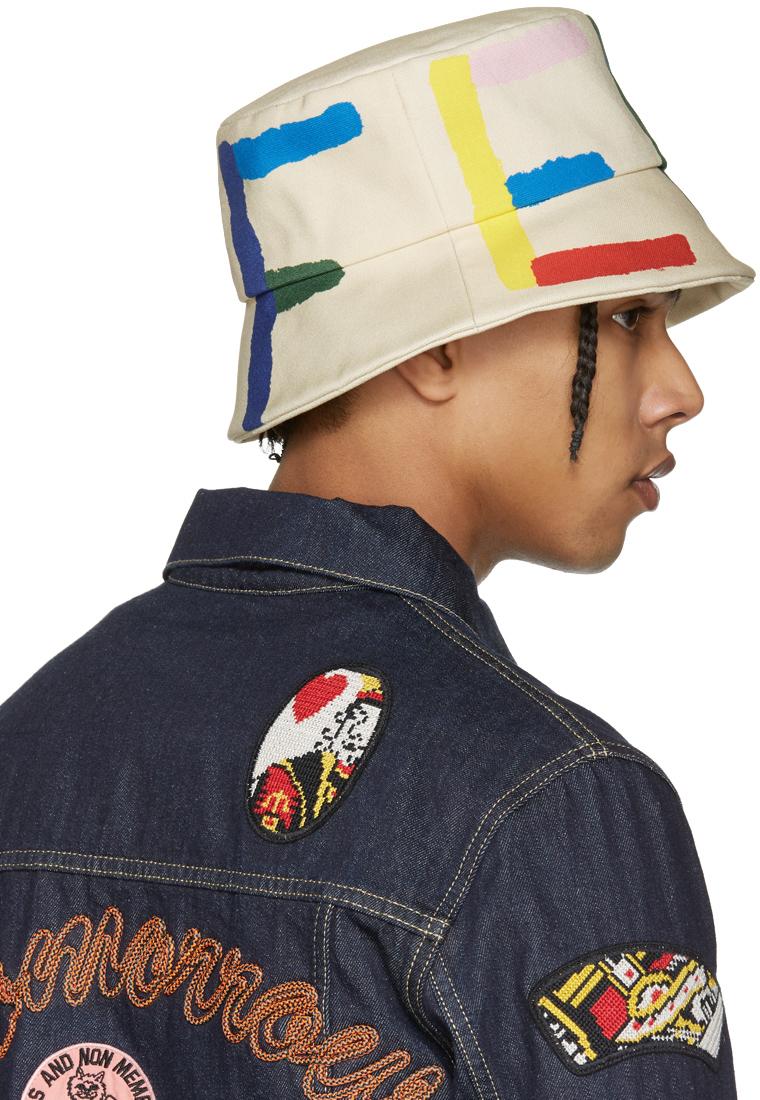Fendi: Off-White Logo Bucket Hat | SSENSE