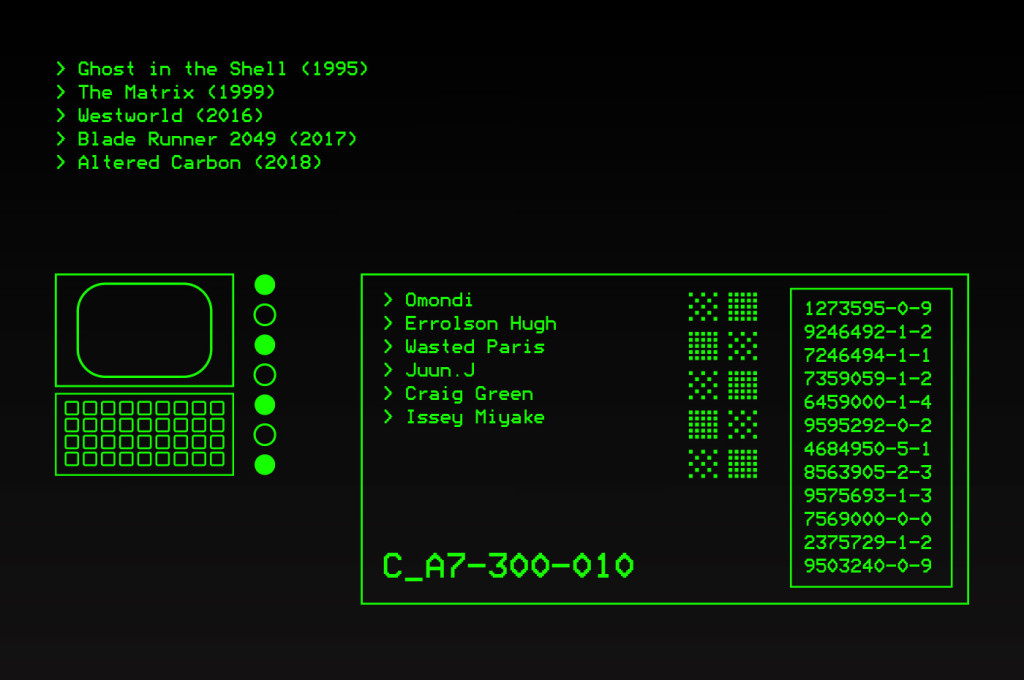 A computer terminal style image