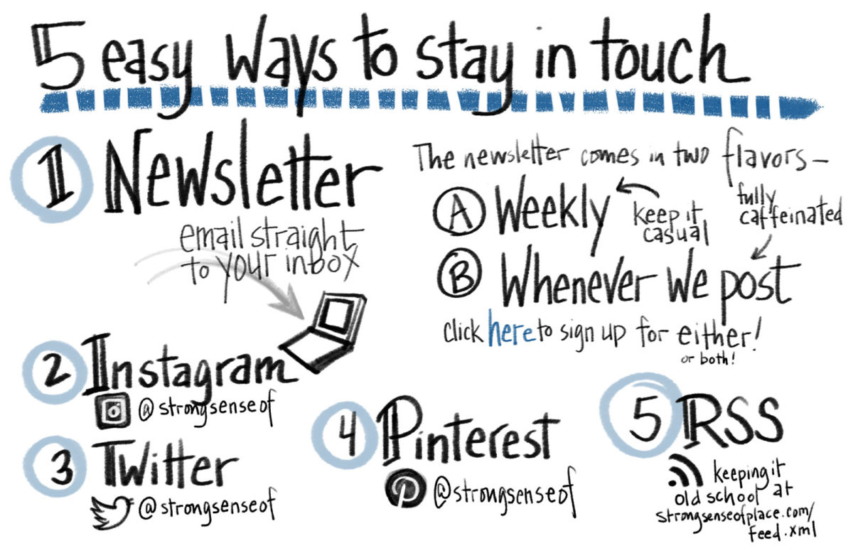 5 ways to follow.