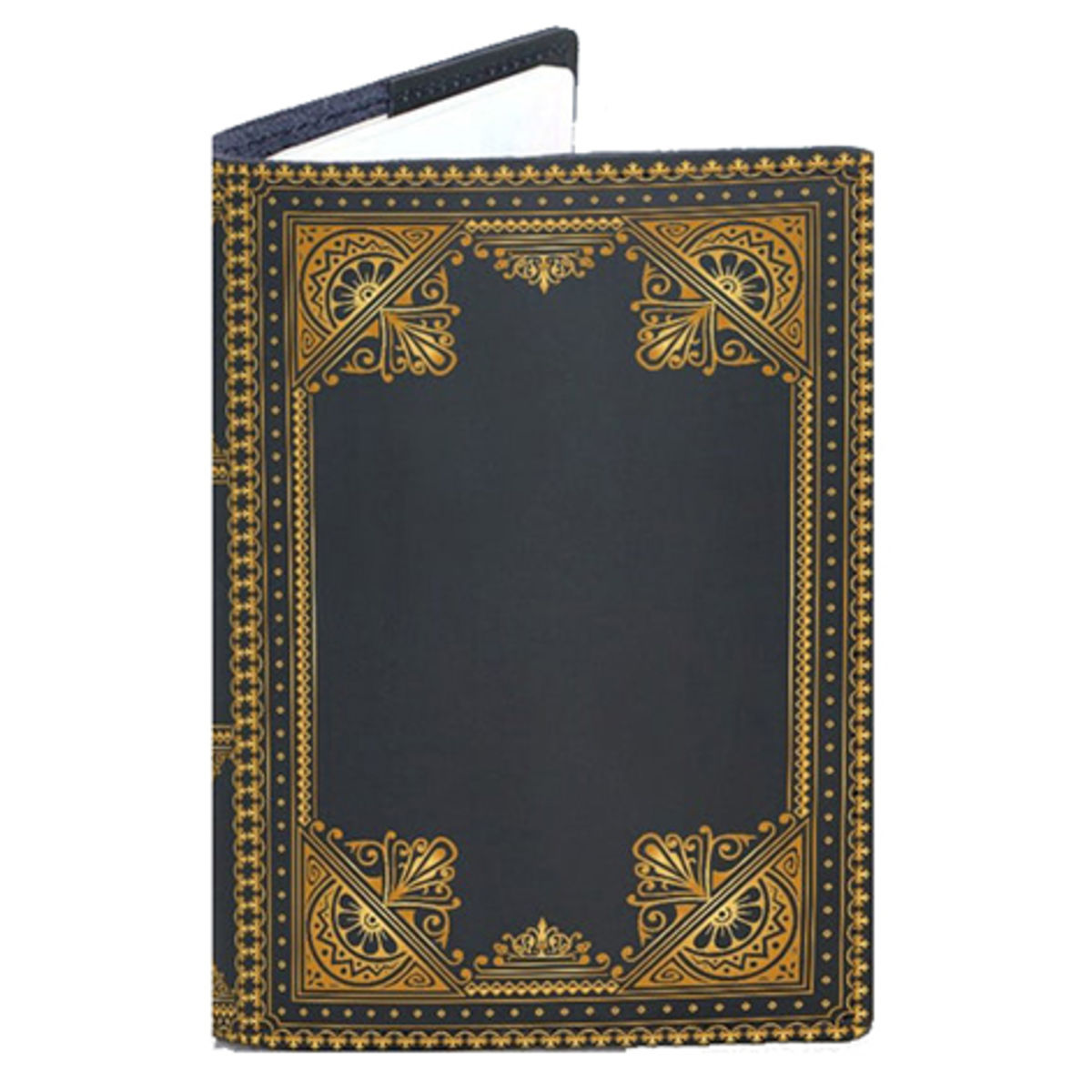 ornate leather passport cover