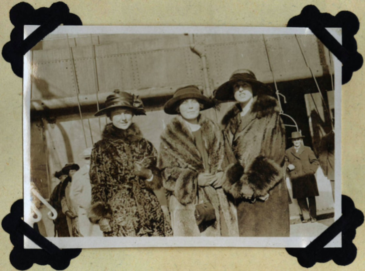 vintage photo of eleanor and her traveling companions